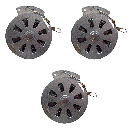 3 Mechanical Fisher's Yo-Yo Automatic Fishing Reels - Package of 3 Reels - Yoyo Fish Trap -(STANDARD WIRE TRIGGER MODEL - Same Reels sold by Cabela's, Cheaper Than Dirt, Bass Pro Shops, etc.) (Mechanical Fisher Yo Yo Automatic Fishing Reel)