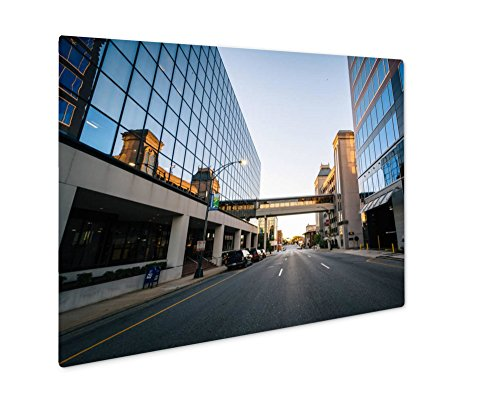 Ashley Giclee Metal Panel Print, Modern Buildings And Friendly Avenue In Downtown Greensboro No, 8x10, - Friendly Center Greensboro