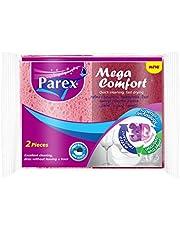 Parex Mega Comfort Classic Sponge, 2 Count, Multi Color
