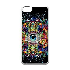 Iphone 5C Eyes Phone Back Case Custom Art Print Design Hard Shell Protection HB065337