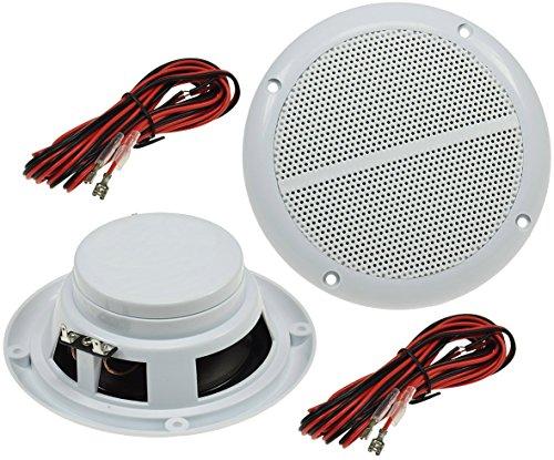 Buitenluidspreker Ø 5 inch / 127 mm 80 watt paar voor wand- en plafondinbouw marine luidspreker beschermd IP44 geschikt…