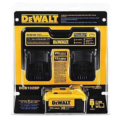 DEWALT DCB102BP 20-volt MAX Jobsite Charging Station with Battery Pack