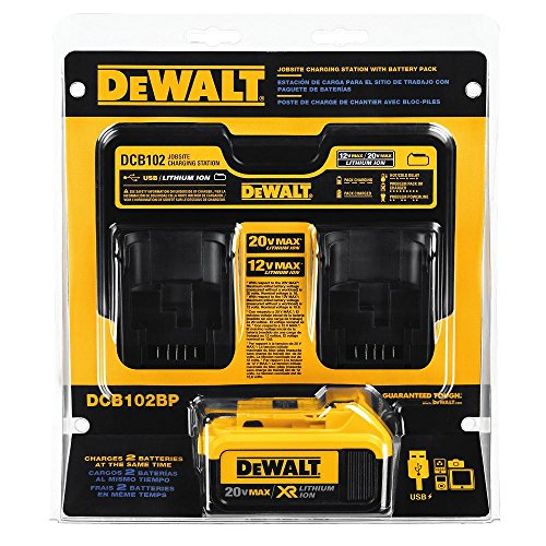 DEWALT DCB102BP 20-volt MAX Jobsite Charging Station with Battery Pack by DEWALT