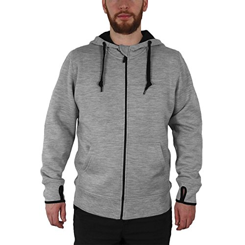 Full Ash Hoody Sweatshirt Zip (Minus33 Merino Wool Clothing Men's Kodiak Expedition Wool Full Zip Hoody, Ash Grey, Medium)