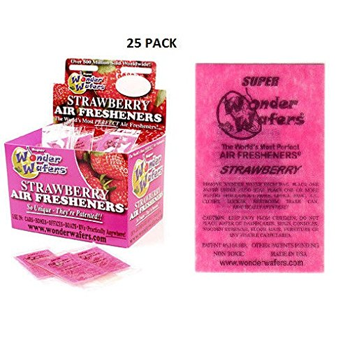 Wonder Wafers Air Fresheners 25ct. Individually Wrapped, Strawberry Fragrance