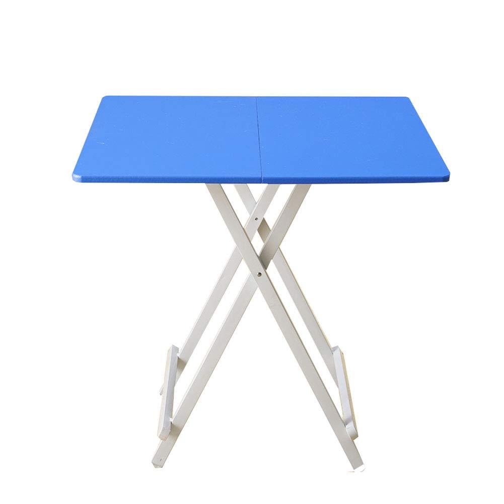 YXX- 小さな青い木の折り畳みダイニングテーブルキッチンオフィスのデスク、ホームベッドルームの子供のためのコンピュータデスク (サイズ さいず : 68x68x75cm) B07KZQDPKJ  68x68x75cm