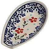 Polish Pottery Spoon Rest From Zaklady Ceramiczne Boleslawiec #1015-964 Traditional Pattern