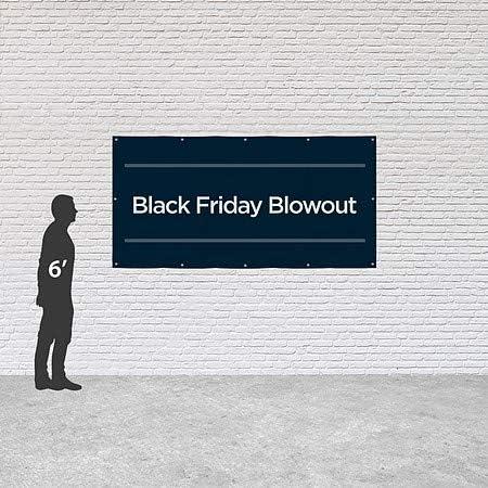 Basic Navy Heavy-Duty Outdoor Vinyl Banner 8x4 Black Friday Blowout CGSignLab