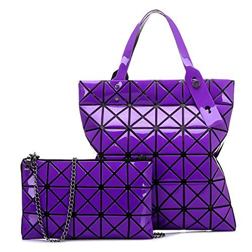 HT Womens Shoulder Handbag - Bolso de asas para mujer rojo oscuro