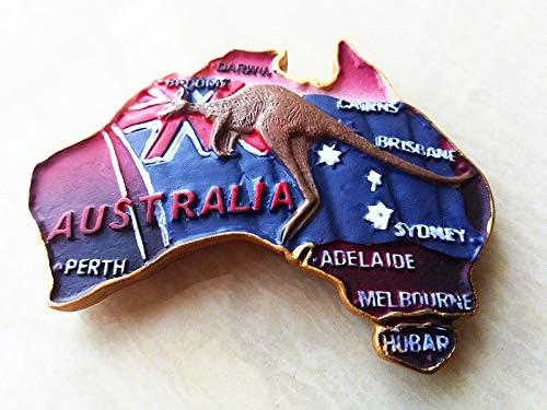Maison dautocollant d/écoration de Cuisine de Voyage LAustralie Aimant de r/éfrig/érateur MUYU Magnet Australie Animal Kangourou Carte Aimant de r/éfrig/érateur Souvenir