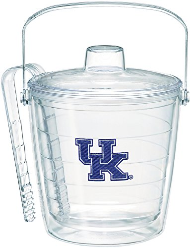 Tervis 1222602 Kentucky Wildcats Logo Ice Bucket with Emblem and Clear Lid 87oz Ice Bucket, Clear