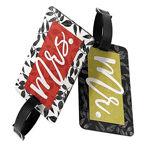 Honeymoon Wedding Gift (Wedding and Honeymoon Gift Set   Mr. & Mrs. Luggage Tag Package)
