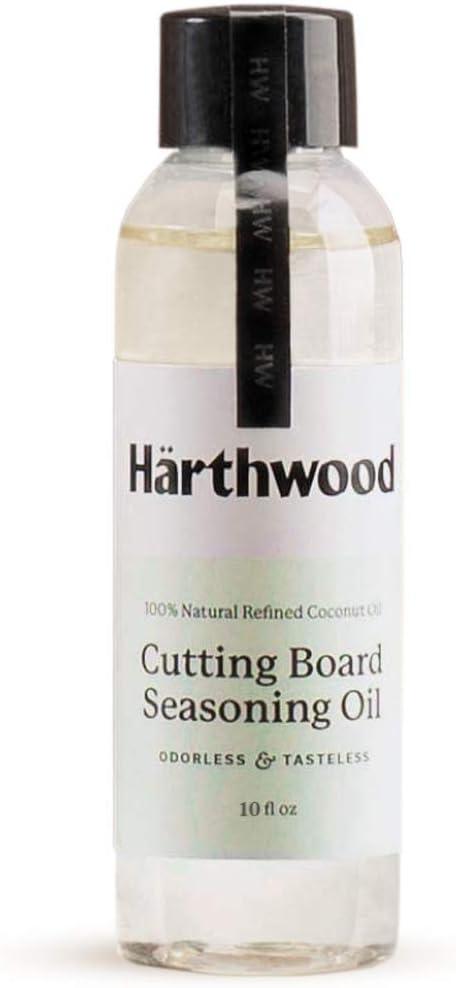Coconut Cutting Board Oil 100% Refined Coconut Oil Non Mineral Conditioner Safe for Wood, Bamboo, Walnut, Teak, Acacia – Knife Block, Butcher Block, Charcuterie Board, Wooden Serving Tray (oil, 10 oz)