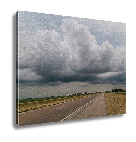 Ashley Canvas, State Highway In Midwest With Clouds And Sunset, 20x25