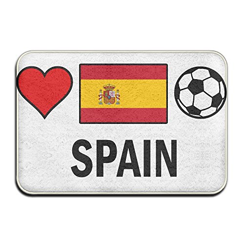 Spain Football Soccer Antislip Outings Carpet Bath Mat by Mat_Rug&