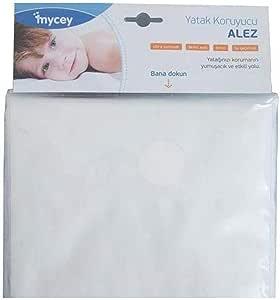Mycey TCM08003 Alez - Ultrayumuşak yatak koruyucu 70 * 140, Beyaz