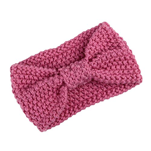 Fashion Women Knot Headband Hair Band Headwrap Winter Crochet Knit Wool Headband (Choose Color - 2Pink)