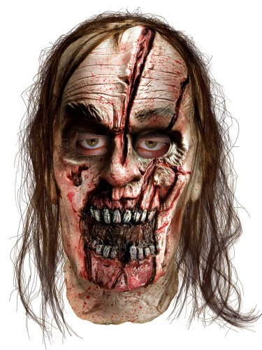 The Walking Dead TV Show, Adult Zombie Man With Split Head Latex Mask, One Size]()