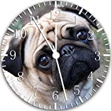 "Best IkEA clock - Cute Pug Wall Clock 10"" Will Be Nice Review"