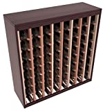 Wine Racks America Redwood 64 Bottle Two Tone Deluxe (Burgundy Stain/Natural)
