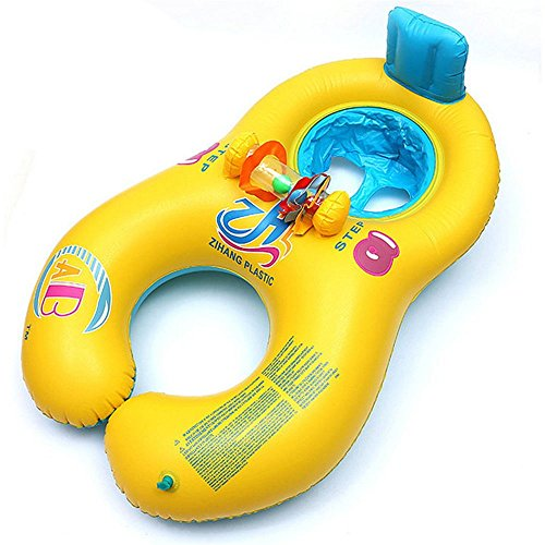 WXDZ Baby Pool Float Inflatable Swim Ring Swim Float Kid's Chair Seat Float For Mother and Baby