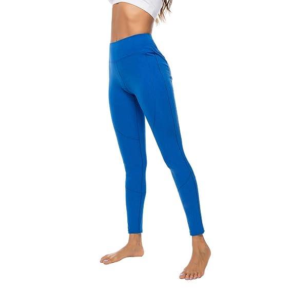 Pantalones Deportivos Mujeres SUNNSEAN Color Sólido Elástico ...