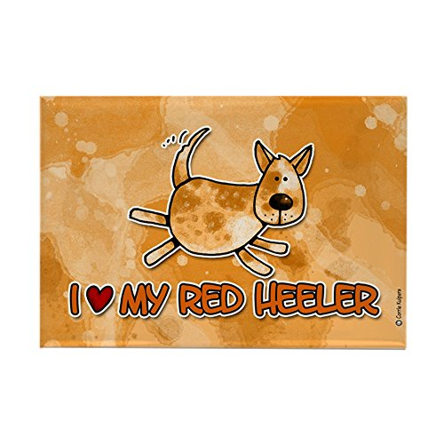 Magnet Red Rectangle (CafePress - i love my red heeler Rectangle Magnet - Rectangle Magnet, 2