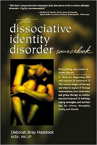 The Dissociative Identity Disorder Sourcebook (Sourcebooks): Amazon.co.uk:  Haddock, Deborah: 9780737303940: Books