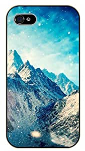 For LG G3 Case Cover Magical winter snow mountain - black plastic case / Nature, Animals, Places Series