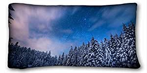 Custom Cotton & Polyester Soft Nature Custom Zippered Pillow Case 20x36 inches(one sides) from Surprise you suitable for Full-bed