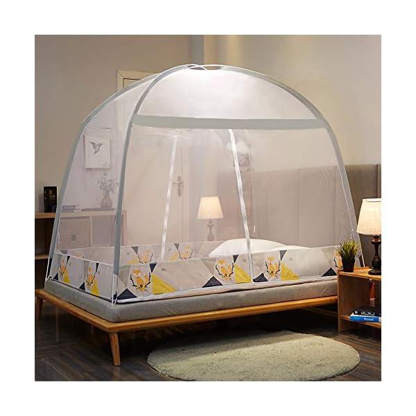 LTJTVFXQ-tarp Zanzariera Stile yurta 1,5 Metri = 59 Pollici Home Anti-Fall Bambini Tenda con Cerniera Completamente… 1 spesavip