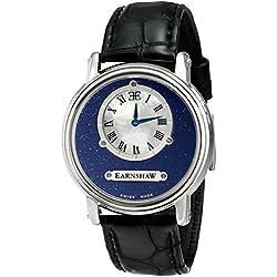 Thomas Earnshaw Men's ES-0027-01 Lapidary Analog Display Swiss Quartz Black Watch
