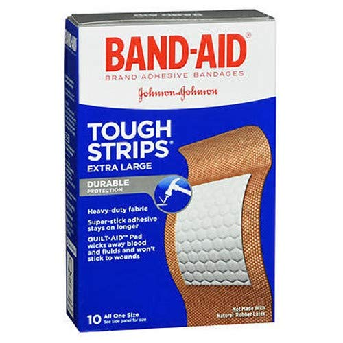 BAND-AID Tough-Strips Bandages, Extra Large 10 ea (Pack of 3)