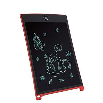 Cuadro de pintura de webla pulgadas portátil 8,5 pulgadas Mini LCD Consejo de escritura tabla de dibujo tabla réécrit Pad para niños, rojo: Amazon.es: ...
