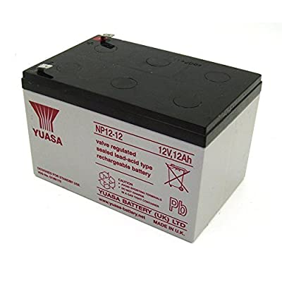 Yuasa Genuine NP12-12 12 Volt 12 AmpH SLA Battery with F2 Terminal