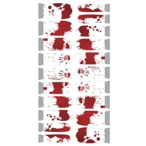 Winstonia Designer Nail Wrap - Bloody Splatters -