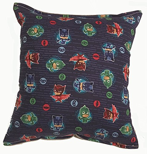 """PJ Mask Pillow PJ Mask and Team HANDMADE in USA NEW Pillow is approximately 10"""""""