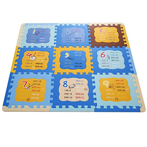Super Foam Mosaic - Crawling Mat Children's Multiplication Table Foam Pad Puzzle Thickening Baby Environmental Cartoon Mosaic Floor 90901.3cm