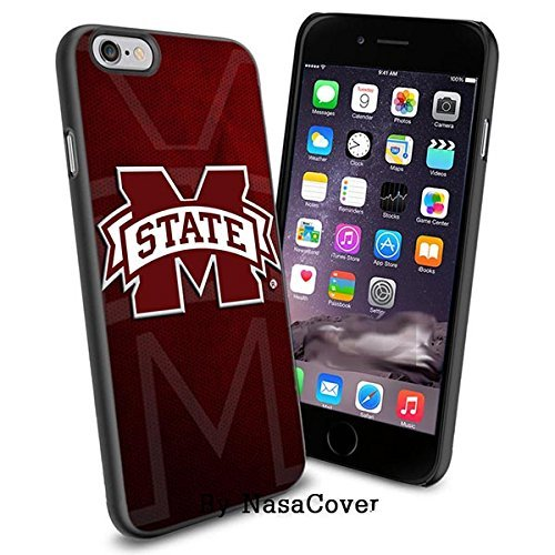 (Available for iPhone 4,4s,5,5s,6,6Plus) NCAA University sport Mississippi State Bulldogs , Cool iPhone 4 5 or 6 Smartphone Case Cover Collector iPhone TPU Rubber Case Black [By Lucky9Cover] - Mississippi State Iphone 4 Case