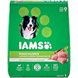 IAMS Adult Minichunks Dry Dog Food Chicken and Whole Grains Recipe 13.61kg (30LB) - 13.6kg
