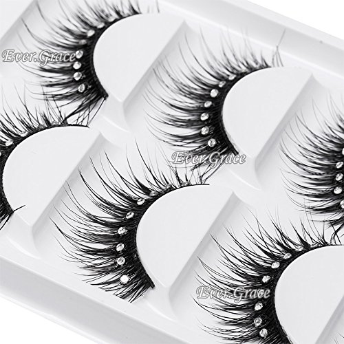 5 Pairs Makeup False Eyelashes Diamond Eyelash Long Thick Shimmer Party Salon