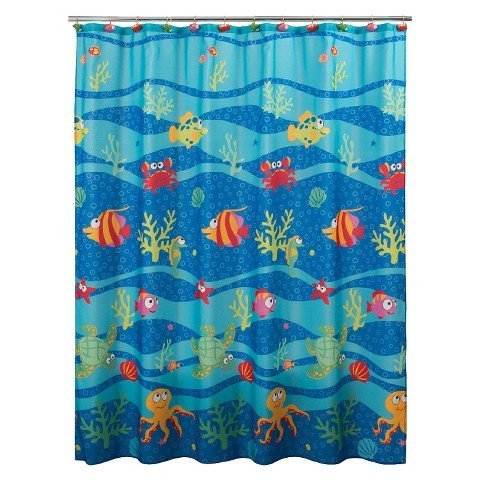 (Allure Home Creation Fishtails Shower Curtain)