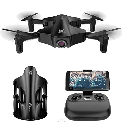 Potensic Foldable RC Drone With 720P Camera Live Video Feed, U29S Wi-Fi FPV 2.4GHz 6-Axis Gyro Quadcopter with 120° Wide-angle Shot -Flight Route Setting, Optical Flow, Altitude Hold, One Key Take Off