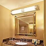Jiaa Productos de decoración para el hogar con Aspecto Moderno y Elegante diseño de la lámpara de Pared Montaje de Cobre Nuevo Chino LED Espejo Faro Inodoro lámpara de Pared Montaje de baño Apliques