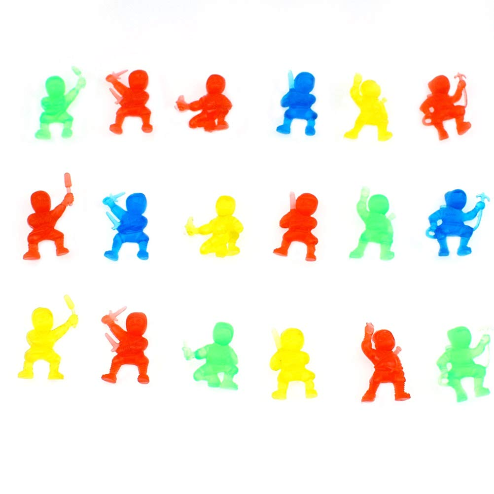 Toyvian La estatuilla plástica de Ninja, 50pcs Hace Adornos ...