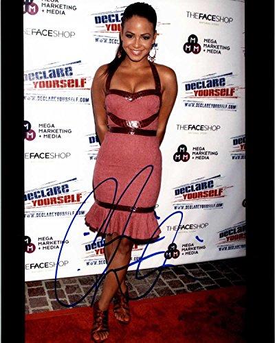 Christina Milian Signed Autographed Glossy 8x10 Photo - COA Matching Hologram Stickers (Christina Milian Best Of)