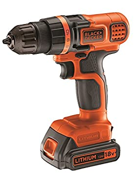 Black+Decker EGBL18K-QW - Taladro/Destornillador, Baterí a De Litio De 18V Batería De Litio De 18V Stanley Black and Decker