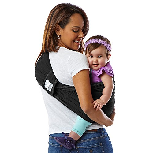 Baby K Tan Original Cotton Wrap Style Baby Carrier Black