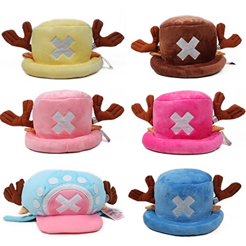 LIANGSM Anime One Piece Tony Chopper Hat Cosplay Prop Cap Hat Costume Hat (blue 2)