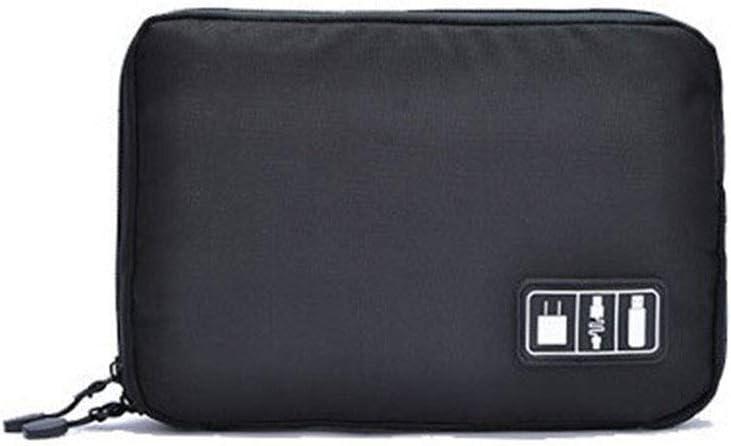 Fornateu Titular Gadget USB Cable del Organizador del almacenaje del Recorrido Accesorios electr/ónicos de la Caja de la Bolsa de la energ/ía Bank